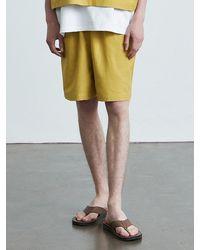 VOIEBIT V013 Cotton Banding Short Pants Yellow