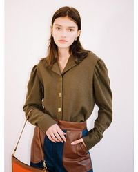 THE ASHLYNN Ivy Wool Blouse - Multicolour
