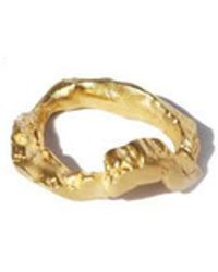 1064STUDIO - Classic Texture Ring A B - Lyst