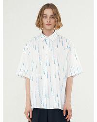 Add Rain Effect Graphic Shirt White