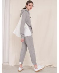 ANOTHER A - Suburbia Jogger Trousers Grey Charcoal - Lyst
