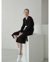 NILBY P Robe Dress Coat Bk - Black
