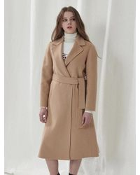a.t.corner - Light Beige Taylor Long Coat Amco7dz11i1 - Lyst