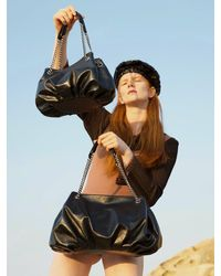 Awesome Needs Cow Leather Bud Bag - Black