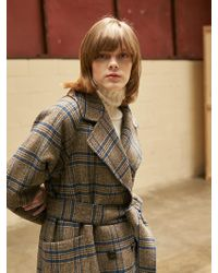 COLLABOTORY - Handmade Check Coat - Lyst