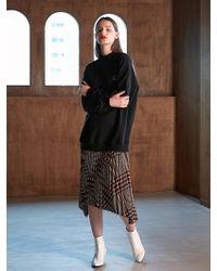 COLLABOTORY - Bacma4007m New Pleats Sweat Dress Black - Lyst