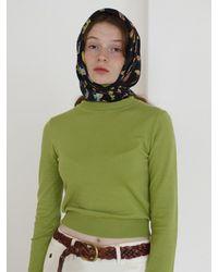 Baby Centaur Slim Turtleneck Knit Top - Green