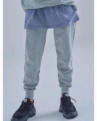 MIGNONNEUF Mnfs Heavy Weight Logo Pocket Pants Melange Gray
