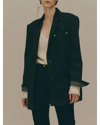 Fleamadonna Oversize Denim Blazer - Multicolor