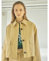 HIDDEN FOREST MARKET Sunny Cotton Crop Jacket - Natural