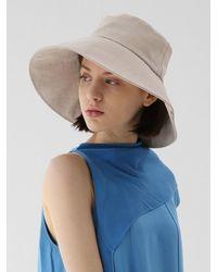 UNDERCONTROL STUDIO Wide Bucket Hat Big Eye Linen - Multicolor