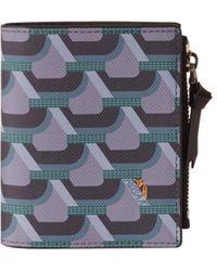 ROSA.K Cabas Monogram Bi Fold Wallet - Green
