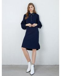 F.COCOROMIZ - Neck Button Point Dress - Lyst
