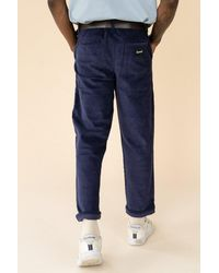 we are bound Ocean Navy Corduroy Trousers - Blue