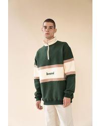 we are bound Woodland Panel 1/4 Zip Sweater - Green