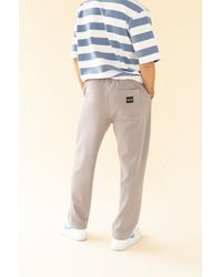 we are bound Textured Grey Cotton Trousers