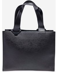 Louis Vuitton Black Large Epi Leather Tote Bag