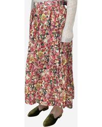 Marni - Pink Patterned Midi Skirt - Lyst