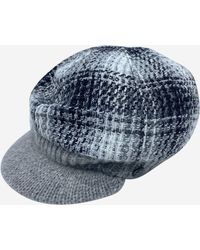 Chanel Grey Baker Boy Wool Hat