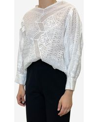 Isabel Marant White Broderie Anglaise Shirt