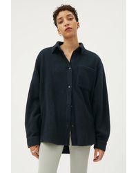Weekday Bess Fleece Overshirt - Blue