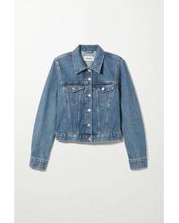 Weekday Shrunken Denim Jacket - Blue