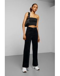 Weekday Livia Cord Trousers - Black