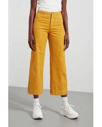 Weekday Vida Yellow Denim Trousers
