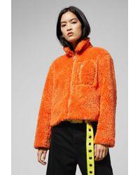 Cheap Monday Function Orange Teddy Jacket