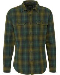 Superdry - Geruit Regular Fit Overhemd Groen/geel - Lyst