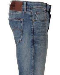 G-Star RAW Slim Fit Jeans 3301 Vintage Medium Aged - Blauw