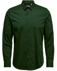 Only & Sons Slim Fit Overhemd Groen