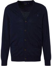 Polo Ralph Lauren - Wollen Vest Marine - Lyst