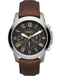 Fossil Grant Heren Horloge Fs4813 - Metallic