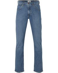Wrangler Straight Fit Jeans Arizona Fuse Blue - Blauw