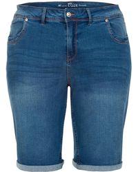 Miss Etam Plus Jeans Short Blauw