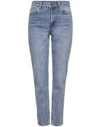 ONLY High Waist Straight Fit Jeans Onlemily Tall - Blauw