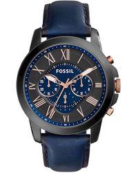 Fossil Grant Heren Horloge Fs5061 - Zwart