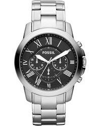 Fossil Grant Heren Horloge Fs4736ie - Metallic