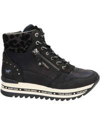 Mustang Hoge Sneakers - Zwart