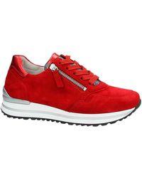 Gabor Suède Sneakers Rood