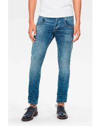 G-Star RAW Straight Tapered Jeans Radar Zip Worn In Blue Faded - Blauw