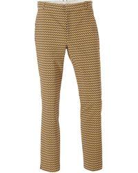 Inwear Slim Fit Pantalon Met All Over Print Bruin/geel