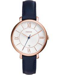 Fossil Dames Horloge Jacqueline Es3843 - Blauw