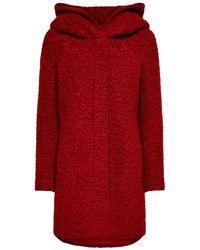 ONLY Coat Met Wol Rood