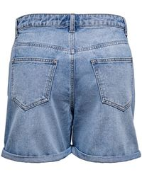 ONLY Jeans Short Blauw