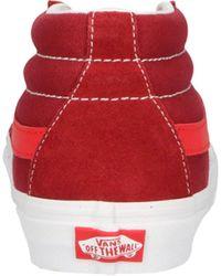 Vans Sk8-mid Suède Sneakers Rood