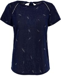 ONLY T-shirt Met All Over Print - Blauw