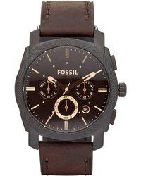 Fossil Machine Heren Horloge Fs4656 - Zwart