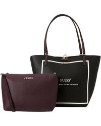 Guess Bag In Bag Handtas Alby TOGGLE Zwart
